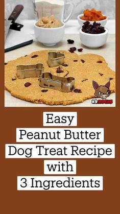 Easy Peanut Butter Dog Treat Recipe, Easy Dog Treat Recipes, Peanut Butter Dog Treats, Dog Cake Recipes, Dog Biscuit Recipes, Dog Food Recipes, Puppy Treats, Diy Dog Treats, Healthy Dog Treats