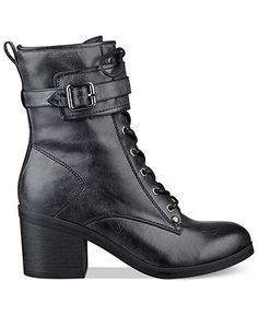 G by GUESS Women's Apex Combat Booties - Juniors' Shoes - Shoes - Macy's
