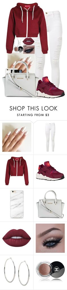 """Untitled #343"" by amina-17 ❤ liked on Polyvore featuring Frame Denim, MICHAEL Michael Kors, Lime Crime and Chanel"