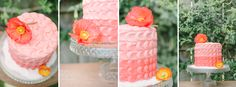 coral wedding cake / photographed by Kate Grewal