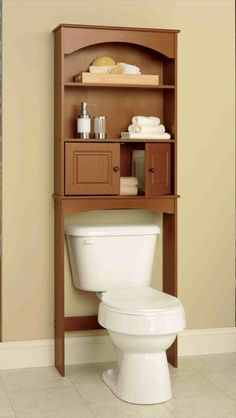 New Post wood bathroom space saver over toilet