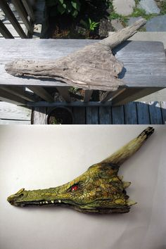 I carved a Dragon from a piece of Driftwood.
