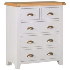 Every bedroom needs a Chest of Drawers that turns on the style when you're storing your clothes, and the Hampshire Grey Painted Oak 2 Over 3 Chest is just such a piece. The rustic farmhouse look is very much in right now, and it's along t 3 Drawer Bedside Table, Dresser As Nightstand, Small Drawers, Grey Paint, Hampshire, Rustic Farmhouse, Furniture, Home Decor, Arquitetura