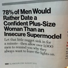 Need A Little Motivation? Fun Fact for the Day. You don't need a magazine to tell how to look. You are beautiful and there are men out there that will love you for you. You Are Beautiful, Love You, Just For You, Beautiful Curves, Sexy Curves, Body Love, Loving Your Body, Perfect Body, The Words
