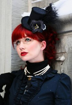 Victorian #Goth girl and SteamPunk Girl