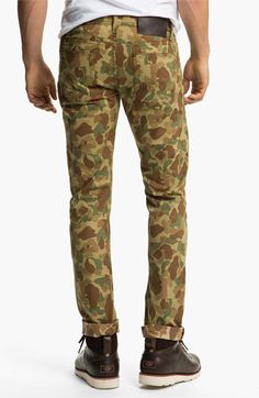 Naked & Famous Denim 'Weird Guy' Dual Camo Print Slim Tapered Leg Pants available at #Nordstrom