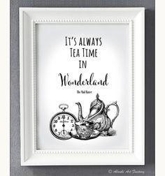 Kunstdruck+A4+Wunderland+TEA+Time+von+ABOUKI+Art+Factory+auf+DaWanda.com