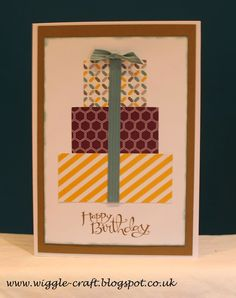 Stampin' Up! Moonlight Paper Stack, Using scraps, Lost Lagoon Ribbon