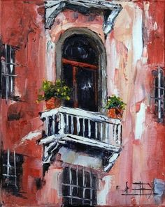 Dreaming of Venice 8x10 oil on gallery wrap, Free easel.