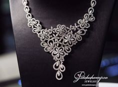 #petchchompoo Diamond Flower, Bridal Jewellery, High Jewelry, Necklaces, Collar Necklace, Wedding Necklaces