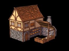 Medieval Bakery for Applo Game Done in max Photoshop Bakery Minecraft Bakery, Minecraft Shops, Minecraft Plans, Minecraft Tutorial, Minecraft Blueprints, Minecraft Creations, Minecraft Projects, Minecraft Designs, Minecraft Houses