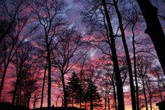 O pôr do sol é um presente diário da natureza!