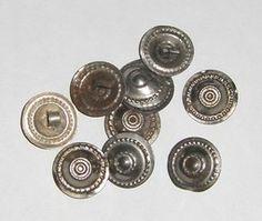 10pcs Flat Style Turkomen Buttons Style O on Birgiss Bellywear £2.50