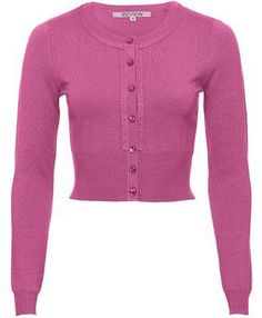 Maggie Long Sleeve Cardigan in Rose Pink Review Fashion, Retro, Knit Cardigan, Pink Roses, Amy, Cardigans, Sweaters, Casual Outfits, Clothes For Women