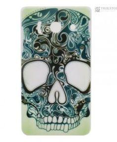 Print Flowers Skull Sign Hard Back Shell Case Cover for Huawei Ascend for sale online Flower Skull, Flower Prints, Mobiles, Printer, Shells, Iphone, Tattoos, Cover, Ebay