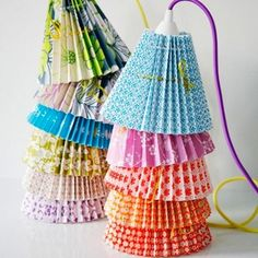 rie-elise-larsen-small-mega-green-flower-pleated-paper-lampshade Again on a wish list. Origami, Diy Luminaire, Paper Lampshade, Paper Crafts, Arts And Crafts, Little Designs, Lamp Shades, Fairy Lights, Paper Goods
