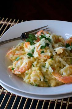 Asiago Shrimp Risotto - Electric pressure cooker makes quick and easy risotto. Loaded with shrimp, herbs and asiago cheese. Creamy, cheesy and delicious! Risotto Recipes, Shrimp Recipes, Fish Recipes, Lemon Recipes, Recipies, Instant Pot Pressure Cooker, Pressure Cooker Recipes, Pressure Cooking, Seafood Dishes