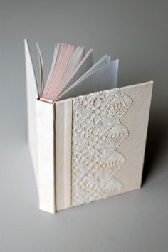 Pale Pink Linen & Lace Journal hand dyed by Natalie Stopka
