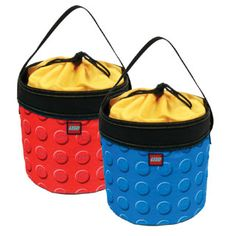 $16.99 - We all need a little more storage. So why not do it in Lego-Style?!?!• rThe multifunctional Cinch Bucket can be used to store, organize, and transport toys.• rIt comes with a durable webbing carry handle and LEGO knob print fabric. • rThe cinch closure keeps contents secure. Stores flat when not in use. • rAvailable in Red and Blue knob print.r• Dimensions: 8H x 8W x 8D• COLORS VARY