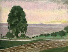 Maurice Denis (1870-1943) Paysage au grand poirier, ou La route (première version)