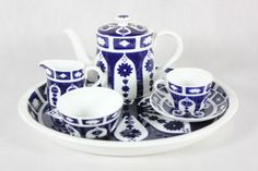 Royal Crown Derby miniature tea set