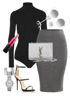 """SIMPLE-y Fashionable"" by church-fashion on Polyvore featuring Theory, MAC Cosmetics, Giuseppe Zanotti, Yves Saint Laurent, Amanda Rose Collection, Marc Jacobs and Michael Kors"