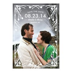 Rustic Country Save the Date Custom Invite