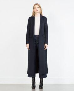 Image 1 of LONG HANDMADE STUDIO COAT from Zara