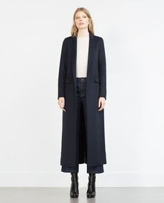 Image 1 of LONG HANDMADE STUDIO COAT from Zara