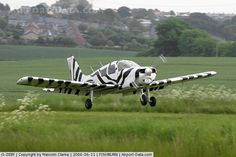 1973 PA-28-140 Cherokee in zebra. United Kingdom.