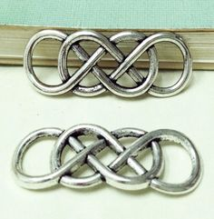 20pcs+Antique+Silver+Wire+Mesh+Double+Infinity+by+DIYBeadshop,+$2.99