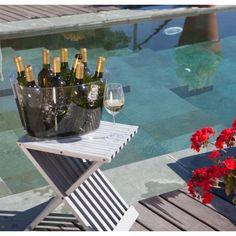 Cubitera acrílica para grandes eventos, hasta 9 botellas de vino