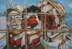 """The China Syndrome"" oil, 2012, 101x152 cm , harrysherwin.com.au"