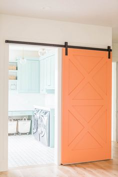 Coastal Blue Laundry Room Design