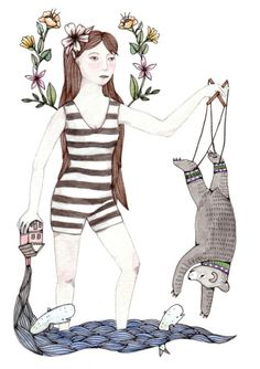 We're starting off the week with some whimsical works by Brooke Weeber. More by Brooke posted on the blog! http://www.artisticmoods.com/brooke-weeber/