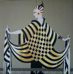 Erte. Romain de Tirtoff (23 November 1892 – 21 April 1990) was a Russian-born French artist and designer known by the pseudonym Erté, the French pronunciation of his initials, R.T. He was a diversely talented 20th-century artist and designer who flourished in an array of fields, including fashion, jewellery, graphic arts, costume and set design for film, theatre, and opera, and interior decor.