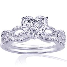 heart shaped with infinity band- YES!!! This is the one!!!