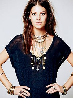 Free People Mykonos Layered Chain Necklace, $108.00