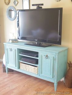 TV Stand From A Buffet (A Tutorial) | Addison Meadows Lane