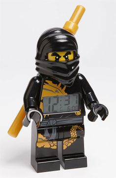 LEGO® 'Ninjago' Alarm Clock | Nordstrom. Oh boy do I know a little boy who would LOVE this!!