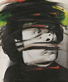 """Arnulf Rainer - """"Self portrait"""", - Gelatin silver print with oil paint - x cm (*) Self Photography, Creative Photography, Portrait Photography, Arnulf Rainer, Art Informel, Art Of Love, Studio Portraits, Painting & Drawing, Drawing Board"""