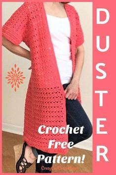 Crochet Long Cardigan Duster - Crazy Cool Crochet - Meladoras Creations Community Board - Free Crochet Patterns - Crochet Long Cardigan Duster - Crazy Cool Crochet Crochet cardigan duster FREE PATTERN and VIDEO tutorial! Crochet Vest Pattern, Crochet Shawl, Knit Crochet, Crochet Patterns, Free Pattern, Crochet Sweaters, Crochet Shrugs, Kimono Pattern Free, Doilies Crochet
