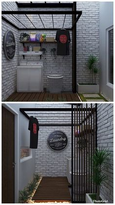 Laundry Room Design, Home Room Design, Home Interior Design, Modern Laundry Rooms, Laundry Room Layouts, Minimalist House Design, Small House Design, Outdoor Laundry Area, Laundry Room Inspiration