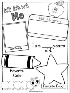 graphic regarding All About Me Printable Preschool known as 159 Ideal All Around Me Preschool Concept visuals in just 2019