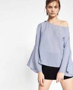 The fall off the shoulder trend from Zara