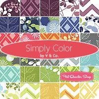Simply Color Charm Pack V and Co. for Moda Fabrics - Fat Quarter Shop