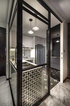 peranakan meets modern interior, kitchen.