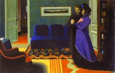 The Visit - Felix Vallotton ............. The tension in this painting is overwhelming ; one feels as if the air is being siphoned out.