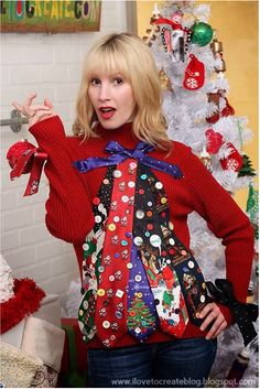Ugly sweater with ties