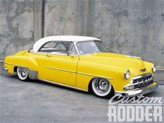 #Yellow 1952 Chevy Hardtop